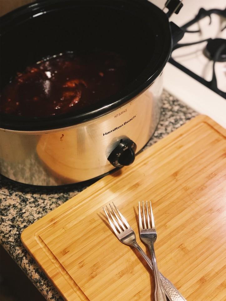 Crockpot BBq Chicken 5